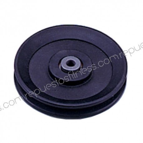 Pulley 25.4 mm, width of 120 mm of outer diameter to axis of 10 mm