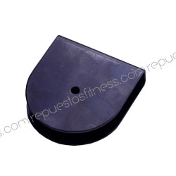Support de la poulie max Ø127mm à l'échelle de 25,4 mm trous Ø9,6 mm