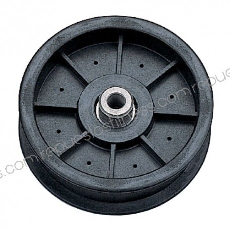 Poulie pour Kevlar extérieur Ø 114,3 mm - Largeur 25,4 mm trous Ø9,5mm