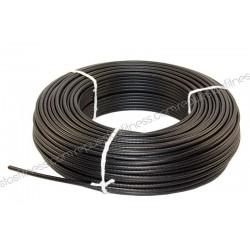 25 mètres de câble en acier plastifié de 5 mm pour appareils de musculation et de fitness.