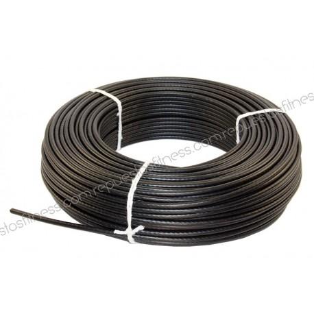 50 metri di cavo in acciaio laminato Ø5 mm di spessore per attrezzature da palestra
